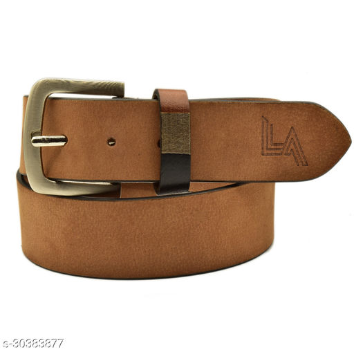 Men Evening, Party, Formal, Casual Tan Genuine Leather Belt