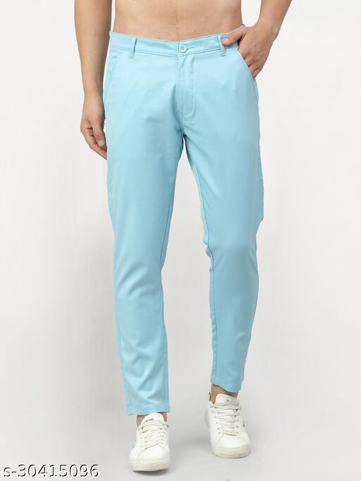 Men's Solid Casual Trousers