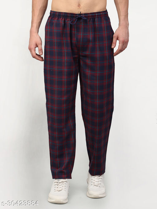 Men's Cotton Checked Track Pants