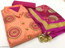 Leeza Store  Cotton Unstitched Dress Material For Women