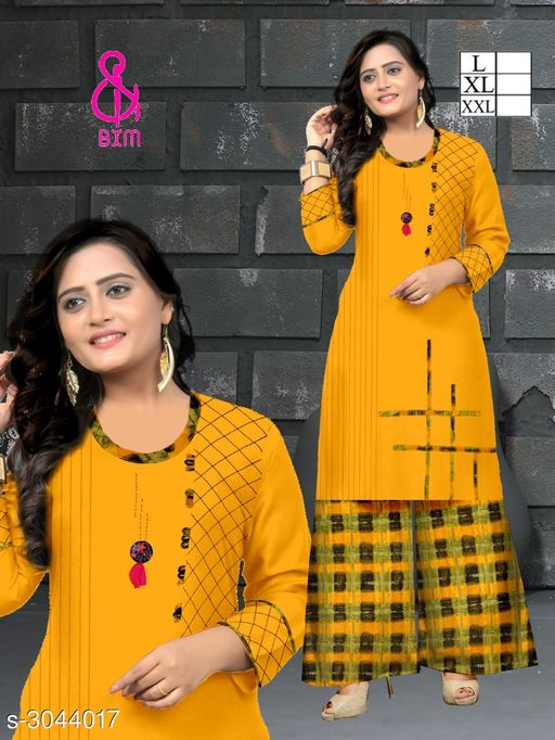 Kurta Sets Attractive Soft Cotton Women's Kurta Set  *Fabric* Kurti - Soft Cotton , Bottom - Soft Cotton   *Sleeves* Sleeves Are Included   *Size* Kurti  - L - 40 in, XL - 42 in, XXL - 44 in ,Bottom - L - 32 ,XL - 34 in, XXL -36 in   *Type* Stitched   *Length* Kurti - Up To 46 in, Bottom - Up To 40 in   *Description* It Has 1 Piece Of Women's Kurti With 1 Piece Of Bottom   *Work * Printed  *Sizes Available* L, XL, XXL   Supplier Rating: ★4.1 (3038) SKU: ASCWKS_4 Shipping charges: Rs1 (Non-refundable) Pkt. Weight Range: 500  Catalog Name: Siya Attractive Soft Cotton  Women's Kurta Sets Vol 9 - Step up wear Code: 827-3044017--658