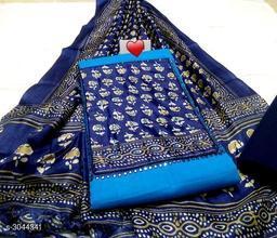 Attractive Slub Cotton Suits & Dress Material