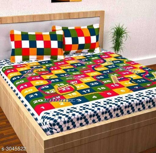 Comfy 100% Cotton Double Bedsheet