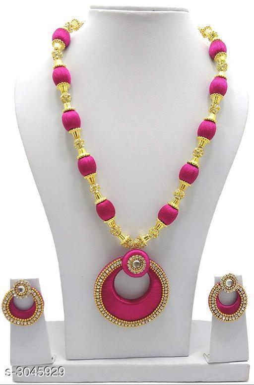 Women's Thread Gold Plated Jewellery Set