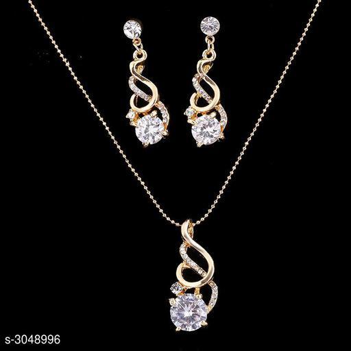 Jewellery Set Network explosion fashion zircon crystal pendant earrings two-piece  *