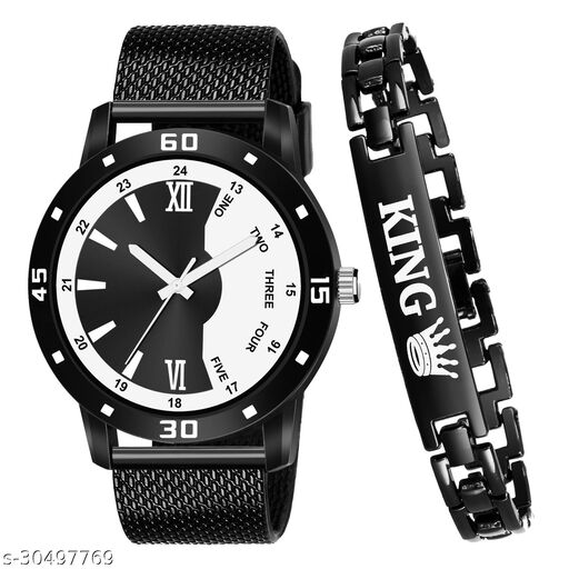 Top Selling Combo of Watch & Bracelet for Boy - Vol 2