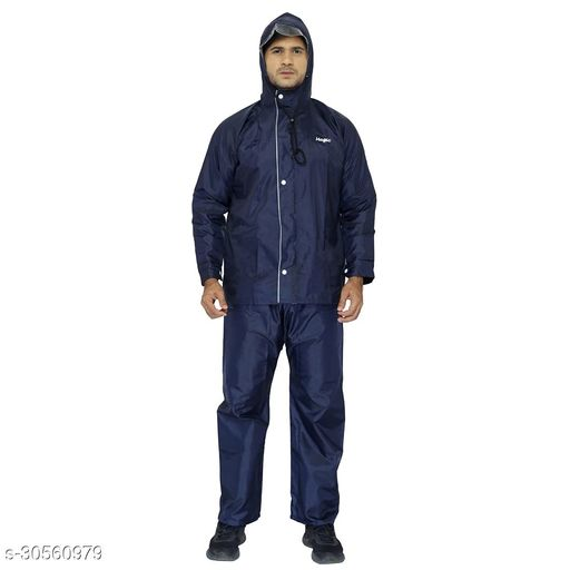 THE CLOWNFISH Men's Raincoat (OPENER-PARENT_Magic Blue_X-Large)