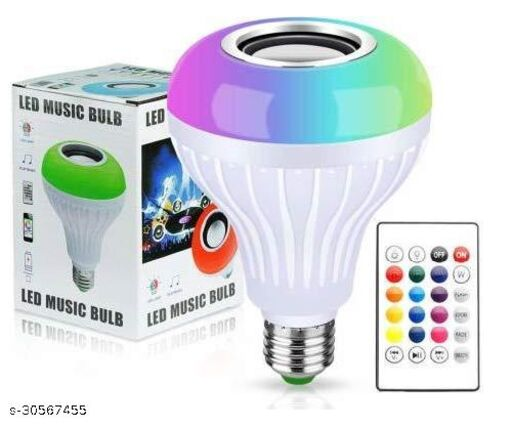 LED Music Light Bulb with Bluetooth Speaker RGB Self Changing Color Lamp Built-in Audio Speaker for Home, Bedroom, Living Room, Party Decoration PACK OF 1