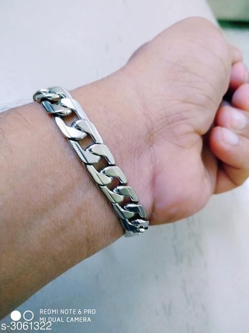 Stylish Men's Silver Bracelet