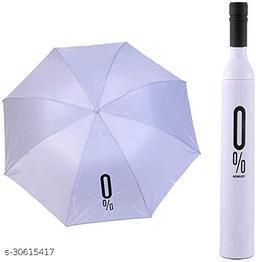 Bottle Umbrella - Windproof UV and Rain Protection Double Layer Folding Portable Unisex Umbrella with Bottle Cover(white)