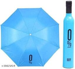 Bottle Umbrella - Windproof UV and Rain Protection Double Layer Folding Portable Unisex Umbrella with Bottle Cover(Blue)