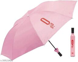 Bottle Umbrella - Windproof UV and Rain Protection Double Layer Folding Portable Unisex Umbrella with Bottle Cover(Pink)