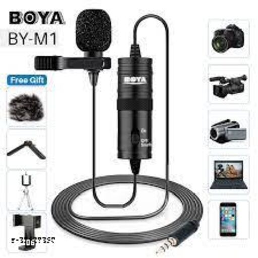 Boya by M1 Lavalier Microphone for Smartphones, Canon, Nikon DSLR Cameras and Camcorders 20 ft