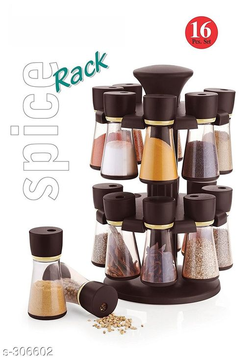 Amazing SPICE RACK 16 IN 1 BROWN