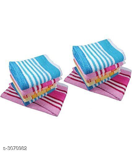 Cotton Multi Hand Towels Set of 12