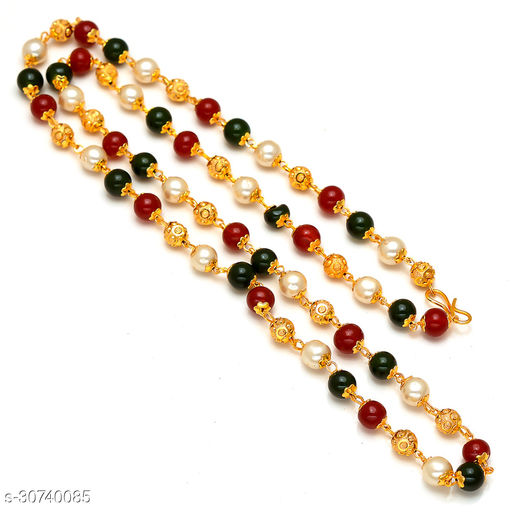 Gold Plated Multicolour Metal Chain For Men, Women,