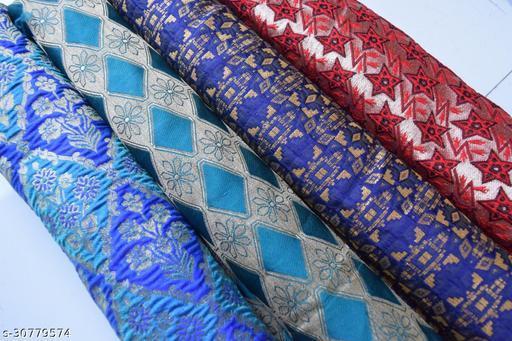 Neyskawa Jacquard Brocade Designer Blouse Fabric Combo (Pack Of 3)