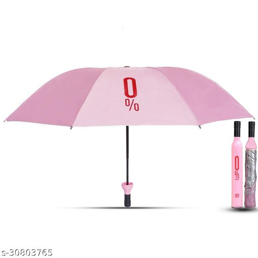 Double Layer Outdoor Bottle Cover Umbrella for Women & Men and kids | color - pink
