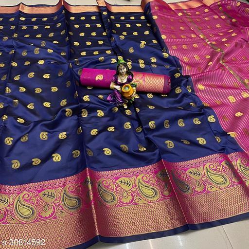 Kanjeevaram silk zari woven saree with blouse