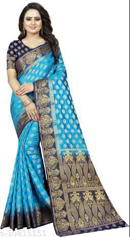 Ayush Creation Fabulous Bollywood Style Cotton Silk Saree