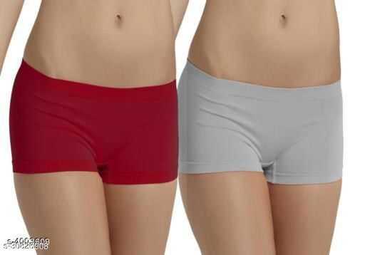 Stylish Trendy Women's Briefs Red & Grey(PACK OF 2)