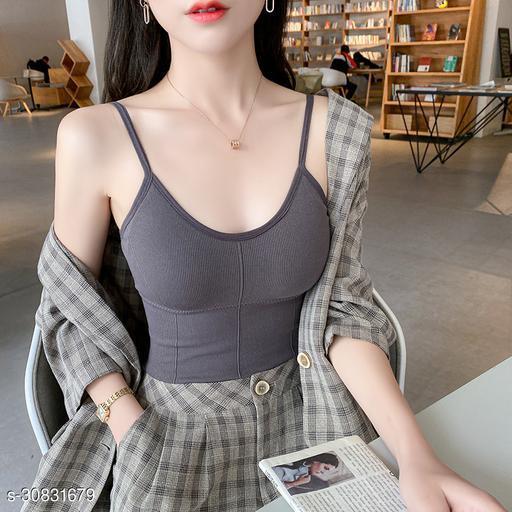 Clumskki Women Stylish Long Bralette cum Crop Top