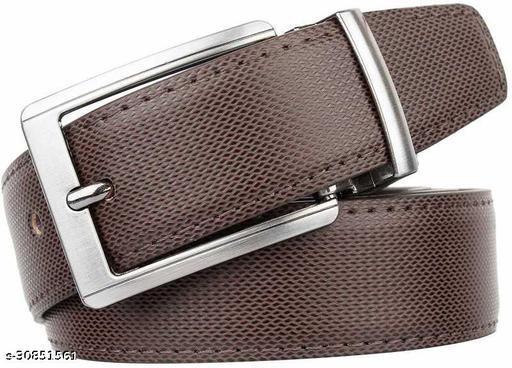 Men Formal Brown Riversible Pu Leather Belt