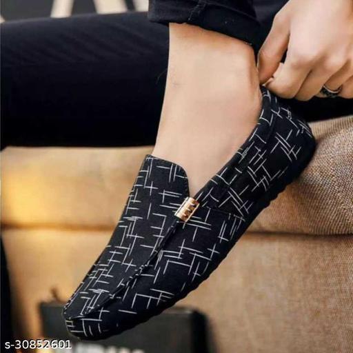 Godigo Stylish Modern Attractive Men Loafer Shoes For Men's 5600_Black