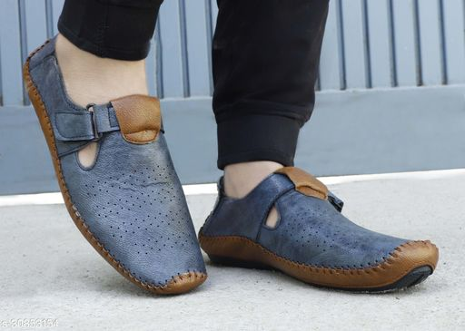 MarcoUno Blue Roman Driving Sandals