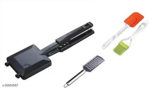 GAS TOASTER WITH SPATULA, SILICON BRUSH & GRATER