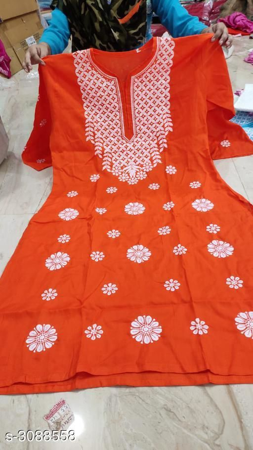 Kurtis & Kurtas Women's Chikankari Cotton Kurti  *Fabric* Cotton  *Sleeves* Sleeves Are Included  *Size* Up To 38 in To 44 in  *Length* Up To 46 in  *Type* Stitched  *Description* It Has 1 Piece Of Women's Kurti  *Work* Chikankari  *Sizes Available* 38, 40, 42, 44 *    Catalog Name: Women's Chikankari Cotton Kurtis CatalogID_423234 C74-SC1001 Code: 885-3088558-