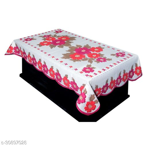 IM FAB Daisy Cotton Centre Table Cover (40X60-inch) PINK