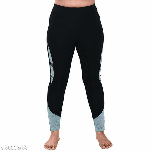 Shopizone Sports Leggings (M/L Size) Black and Grey