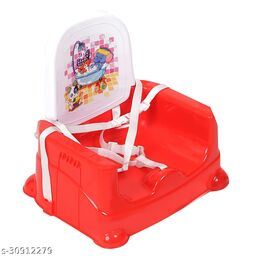NHR Foldable 4 in 1 Baby Feeding Chair, Baby High Chair, Car Seat with 3 Level Table Adjustment (Red)