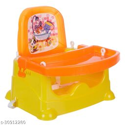 NHR Foldable 4 in 1 Baby Feeding Chair, Baby High Chair, Car Seat with 3 Level Table Adjustment (Orange)