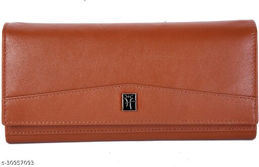 Hawai Stylish Genuine Leather Wallet Purse for Women   3 Card Slots   2 Photo ID Window   5 Zippered Pocket   4 Compartment  