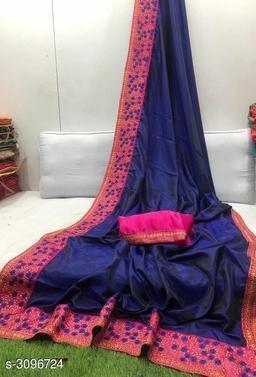 Fancy Two Tone Silk Women's Saree