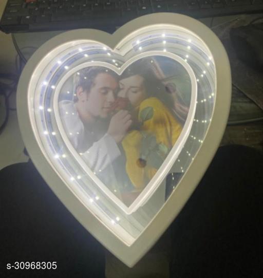 Heart shape photo frame with LED lights