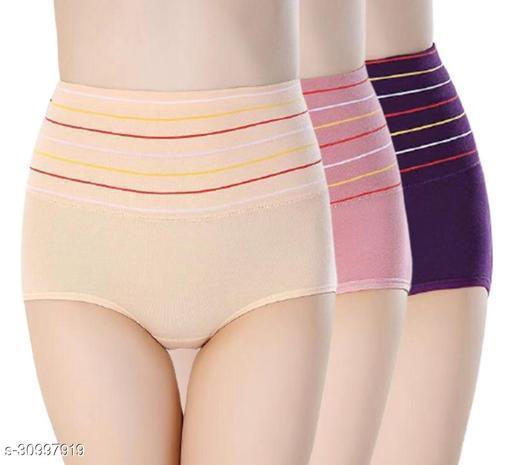 Women Hipster Multicolor Cotton Blend Panty