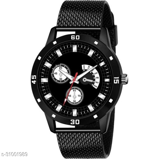 Miss Perfect PU NEW ARRIVAL ROUND DIAL ANALOG QUARTZ WATCH FOR MEN SOPRTS DESIGN Analog Watch