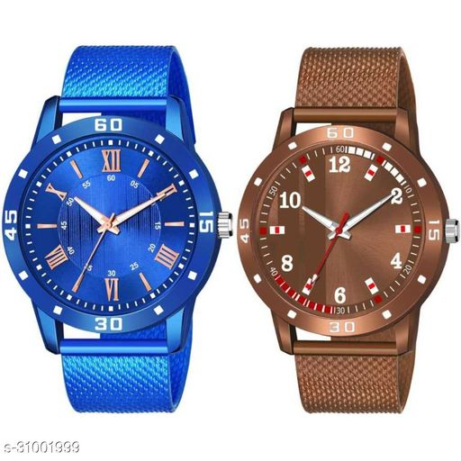 Miss Perfect Pack Of Two Pu Belt Attractive Look Analog Watch