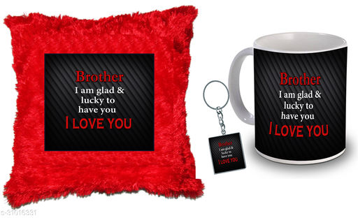 """Birthday,Anniversary,Gift for Sister, Wife, Brother, Mother, Dad special Gifted Mug, Far cusion 14X14"""" with fillER, 1 Printed Key Ring best gift for sister birthday New Trendy High Quality Multicolor Ceramic Gifted Mug (330 ml) MKC 295"""