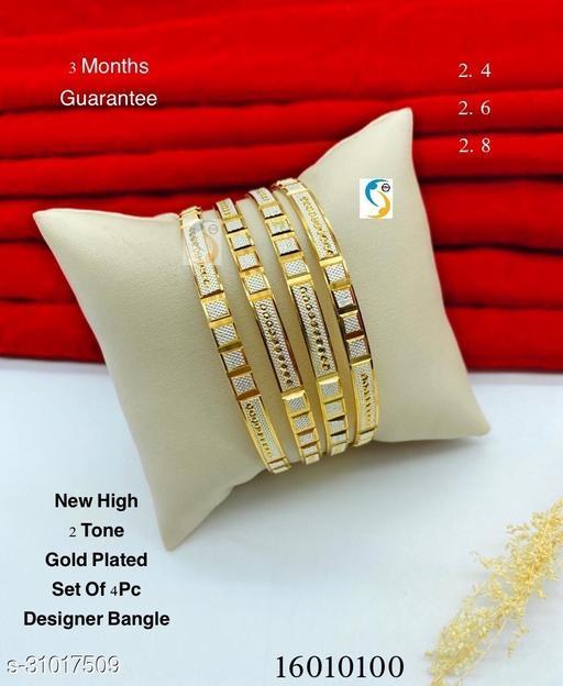 New design premium quality high gold two tone designer designer bangle