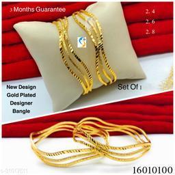 New design premium quality high gold plated designer bangle pair