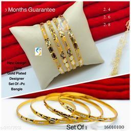New design premium quality high gold plated two tone designer bangle