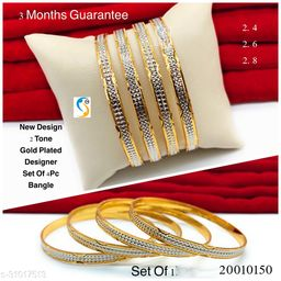 New design premium quality high gold two tone designer bangle.