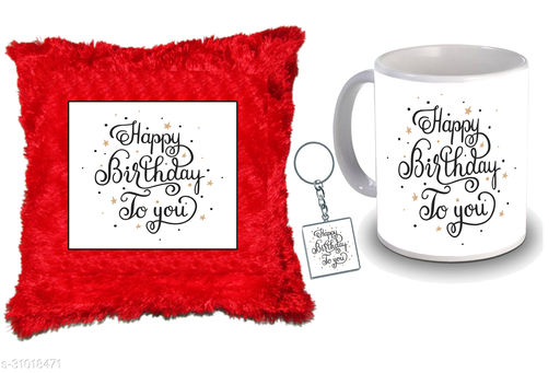 """Birthday,Anniversary,Gift for Sister, Wife, Brother, Mother, Dad special Gifted Mug, Far cusion 14X14"""" with fillER, 1 Printed Key Ring best gift for sister birthday New Trendy High Quality Multicolor Ceramic Gifted Mug (330 ml) MKC 377"""