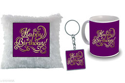 """Birthday,Anniversary,Gift for Sister, Wife, Brother, Mother, Dad special Gifted Mug, Far cusion 14X14"""" with fillER, 1 Printed Key Ring best gift for sister birthday New Trendy High Quality Multicolor Ceramic Gifted Mug (330 ml) MKC 333"""