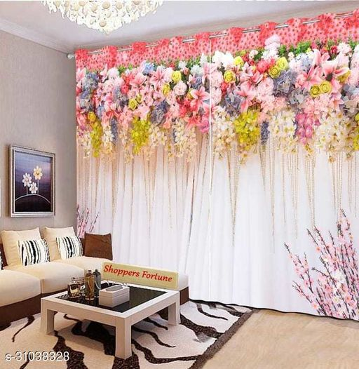 Printed Door Curtains Of 2 Pieces (7x7)