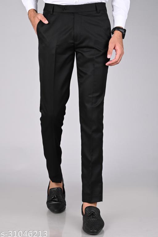 Men's Black Formal Trouser